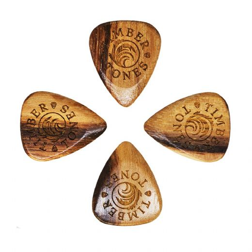 Timber Tones Grip Pale Moon Ebony 4 Guitar Picks